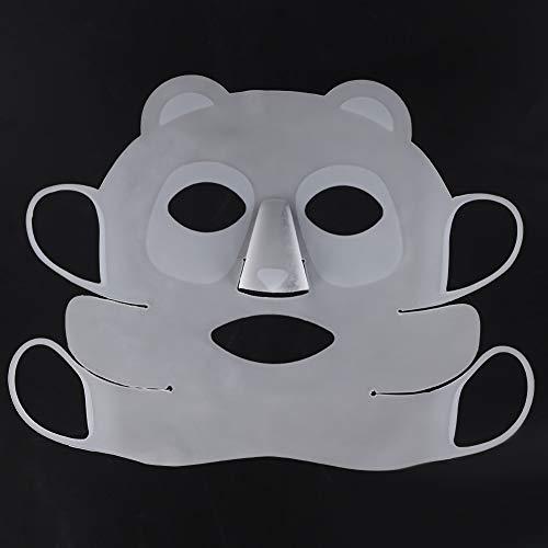 Wiederverwendbare Panda-Ohrbügel-Silikon-Gesichtsmaske, Beauty Face Moisturizing Mask Cover Verhindern die Verdunstung des Serums Beauty Tool für Sheet Mask Cover