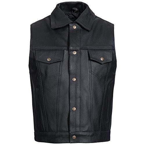 Heren motorvest lederen motorvest motorvest jeans jack stijl Rockabilly