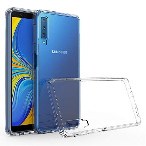 betterfon | Outdoor Transparent Cover für Samsung Galaxy A7 2018 SM-A750 Handy Hülle Silikon Hülle Schutz Tasche TPU Silikon Schutzhülle