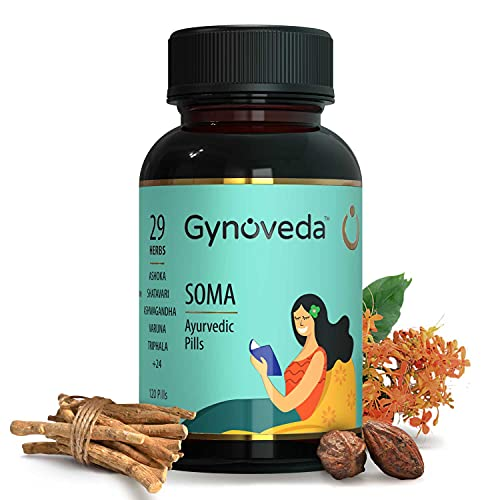 Gynoveda for White Discharge Vaginal Itching Infection Smell. SOMA Ayurvedic Pills. 1 month pack. No more use of intimate wash pantyliner antibiotics