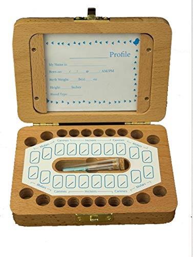 Tand huis kinderen mannelijke en vrouwelijke baby melktanden doos houten fotolijst melktanden foetale haren collectie herdenkingsbehoud doos