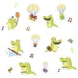 Lichi Bande Dessinée Mignon Heureux Petit Crocodile Vinyle Sticker Mural Decal pour Pépinière Enfants Chambre Chambre Salon Meubles Placard Décor