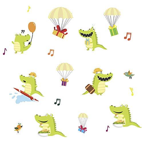 Lichi Comic-Band, niedlich, klein, Krokodil, Vinyl, Wandaufkleber, Decal für Kinderzimmer, Schlafzimmer, Wohnzimmer, Möbel