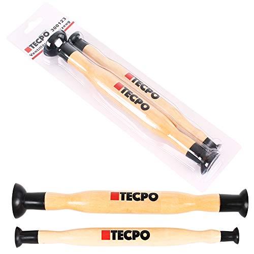 2x TECPO 300123 Ventilläpper Werkzeug Satz Ventilsitzschleifer Ventilschleifer Ventile Ventil Einschleifwerkzeug 15x20 mm und 28x34 mm