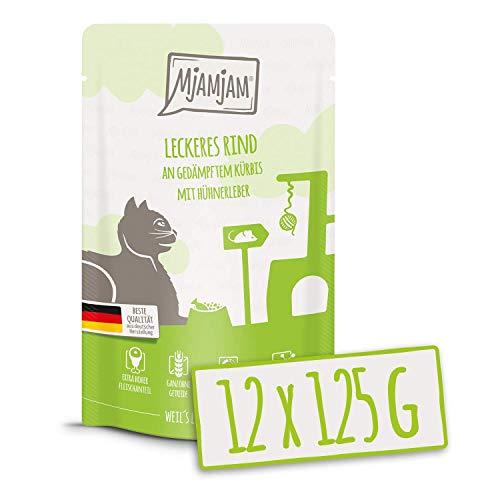 MjAMjAM Natural Wet Cat Food Pienso Acuoso para Gatos, 125 G