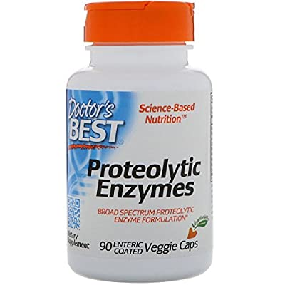 Doctor's Best, Proteolytic Enzymes, 90 Veggie Caps - enteric coated