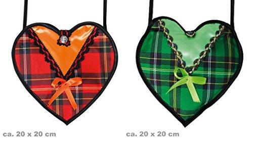 Carnival 45688 Dirndl red check heart design New in Original Box