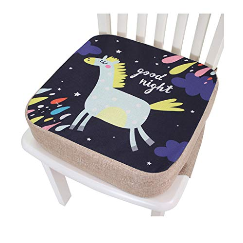 Frotox Cojín para Asiento Infantil Cojín Elevado para Comedor de bebé para niños Alfombrilla Ajustable para Silla Asiento Elevador para niños pequeños para Mesa de Comedor, 39 x 39 x 10 cm