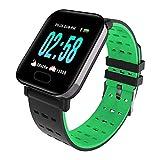 RTGFS Smart Watch Männer Frauen Herzfrequenz Messer Sport Fitness Tracker wasserdichte Smartwatch für Ios Android Sport Armband rot grün