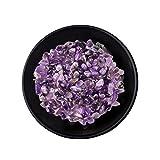 Kaikso-In Piedra triturada de cristal natural, 500 g de cristal natural de cuarzo cayó con virutas de meditación curativas rocas caseras Feng Shui pecera decoración