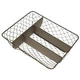 MACOSA - Cesta de cubiertos de metal para terraza, balcón, gastronomía
