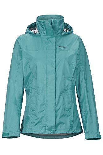 Marmot Damen, PreCip Eco Jacket Hardshell Regenjacke - winddicht wasserdicht atmungsaktiv, Deep Jungle, L