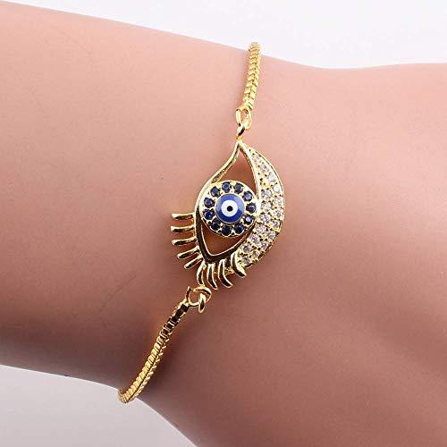 DMUEZW Crystal Baby Meisjes Bedels Armband voor Vrouwen Goud Kleur Ketting Cubiz Zirkonia Verstelbare Armbanden Sieraden Geschenken