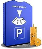 ROBBX® Parkscheibe mit Eiskratzer für Auto und Motorrad | Parkuhr inkl. Reifenprofilmesser und Einkaufswagenchip | Parkscheiben | Parking Disc