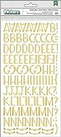 American Crafts Chipboard Alphabet Stickers-Garden Grove, 226/Pkg