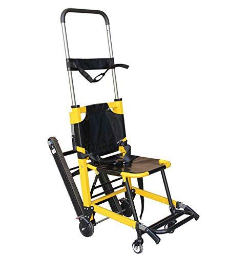 FanYu Verwendung in Notgebäuden Klappbare Trage Treppensteigender Rollstuhl, Klappbare Bequeme Trage Erste Hilfe und Heimtransfer von Patienten auf und ab Treppen