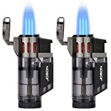 Torch Lighter, Cigar Lighter, Triple Jet Flame Torch Lighters, Windproof Butane Refillable Gas Torch...