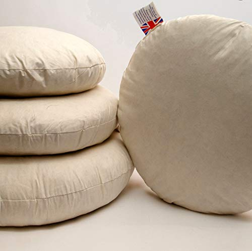 Willows Direct Round Duck Feather Cushion Sofa Decorative Pads Inserts Fillers Fuller Scatters Pillow (28'(70cm))