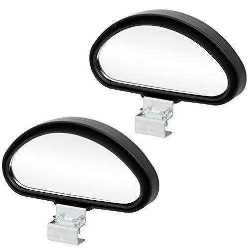 TRIXES 2 Stück verstellbar Zusatz Auto Aussenspiegel Weitwinkel für den Blindspot bei Anhänger und Wohnwagen