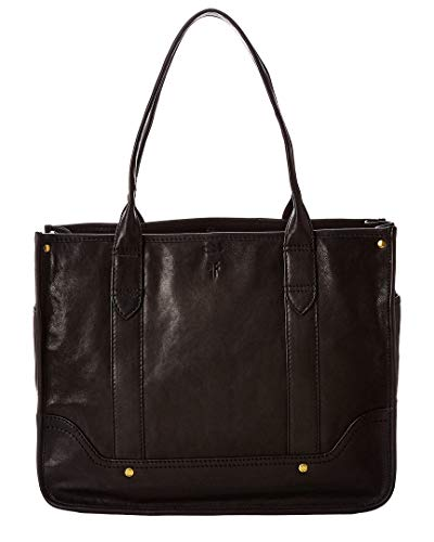 Frye Madison Shopper Black Soft Vintage Leather One Size