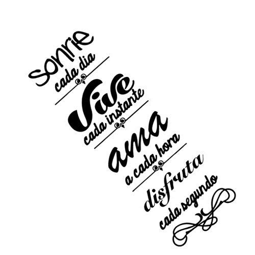 Vkospy Sonrie Sticker Geschnitzte Removable Wandaufkleber Wohnzimmer Schlafzimmer Bildwandaufkleber Wandaufkleber Schwarz Bildwanda Letters Pattern Murals Tattoo