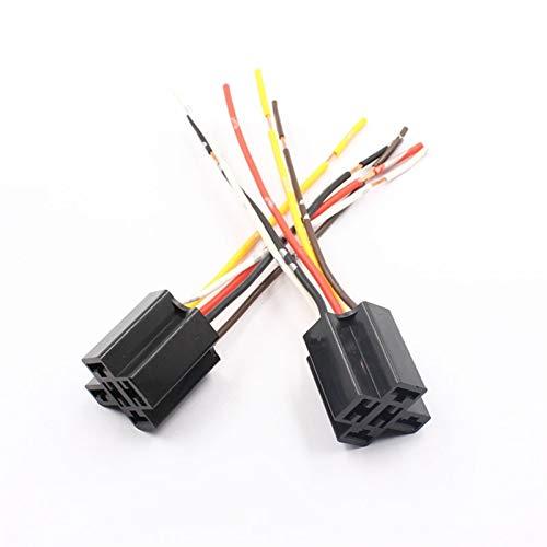 WEIMEIDA Qclj0415 Diaphanous SPDT 80A Relé 4Pins 5Pins 12 voltios Bobina DC 24V Cerámica Cerámica Cableado Cableado Enchufe Piezas de Repuesto (Color : 12V 80A 4Pins)
