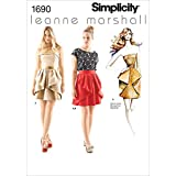 Simplicity Leanne Marshall Pattern 1690 Misses Dress, Skirt and Top Sizes 4-6-8-10-12