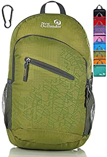Outlander Packable Handy Lightweight Travel Hiking Backpack Daypack, Green