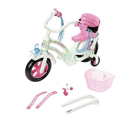 Zapf Creation 826652 BABY born Play & Fun Fahrrad Puppenzubehör mit Licht-Funktion und Hupe und weiteren Extras 43 cm, Online Verpackung