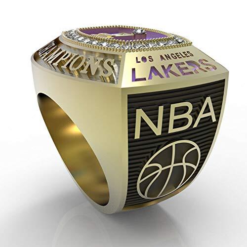 NBA 2020 Los Angeles Lakers anillo de campeonato regalo de ventilador tamaño 11 Fan souvenirs movimiento de baloncesto anillo con caja