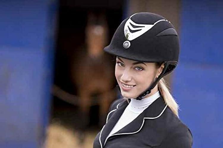 EQUIT'M Casque d'équitation Air en Microfibre Swarovski Cristal Casques d'équitation