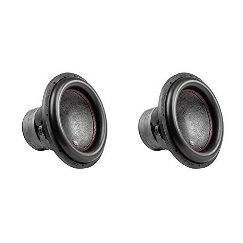 AudioPipe TXX-BDC4-15D2 15 Inch 2,800 Watt High Performance Powerful Dual 2 Ohm DVC Vehicle Car Audio Subwoofer Speaker System, Black (2 Pack)