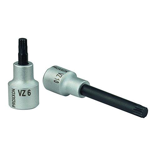 PROXXON 23371 Vielzahn XZN Einsatz Bit Nuss VZ8 Länge 100mm Antrieb 12,5mm (1/2