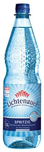 Lichtenauer Mineralwasser Spritzig 12x1,0 l - inklusive Pfand - Lieferung ohne Kiste