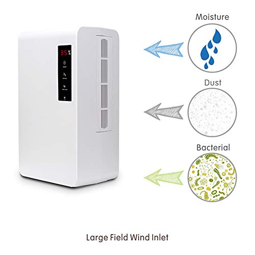 Best Buy! Home Bedroom 3L Intelligent Dehumidifier,Dryer Dryer Basement Dehumidification Dehumidifie...
