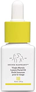 Drunk Elephant Virgin Marula Luxury Facial Oil - Gluten-Free and Vegan Anti-Aging Skin Care and Face Moisturizer - 15 Milliliters/0.5 Ounce