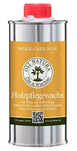 OLI-NATURA Holz-Pflegewachs (Zur Auffrischung und Pflege aller hartwachsöl-behandelten Holzoberflächen), 0.25 Liter, Farblos/natur
