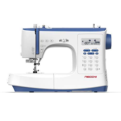 Necchi NC-103D - Máquina de coser, interior de fundición a presión, de aluminio, carcasa de ABS, azul, normal