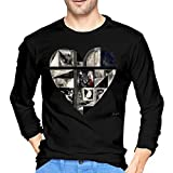 X6Better Camisetas Tops tee Ropa Men's Gotye Kimbra Somebody That I Used to Know Cotton Long Sleeve T Shirt Black