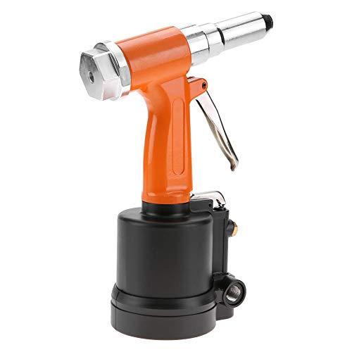 Remachadora neumática KP-701 de 2,4-4,8 mm, pistola remachadora de aire liviana, fabricación de maquinaria de hierro para instrumentos industriales para remachar aluminio,(Orange black)