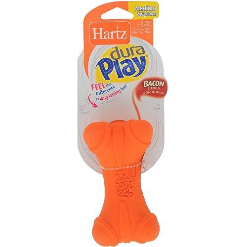 Hartz Dura Play Soft Dog Bone Toy, Assorted Colors 1 ea