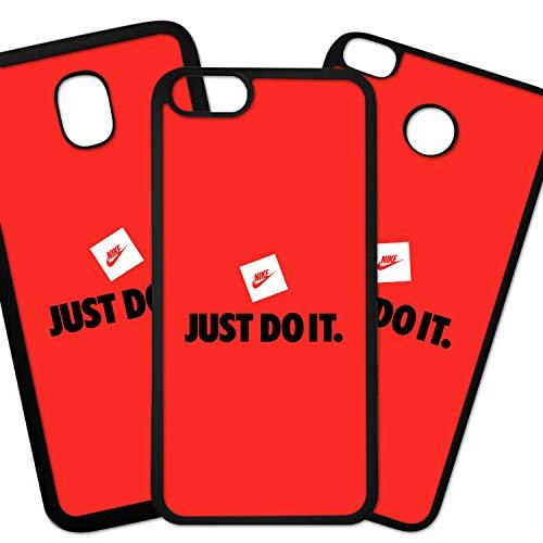Tuscaprichosonline Fundas De Moviles Carcasas De Moviles Funda Carcasa Compatible con Marca Deporte Nike Logo Just DO IT sobre Fondo Rojo