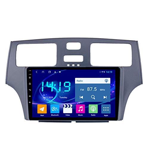 Radio estéreo de coche Android 9.1 ocho núcleos 9 pulgadas Sat Nav para Lexus ES330/250/300 con navegación GPS Bluetooth pantalla táctil WiFi cámara de respaldo reproductor multimedia 4 GB+64 GB