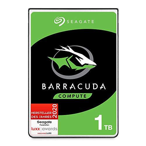 SeagateBarraCuda Pro 1 TB HDD interne Festplatte (6,35 cm (2,5 Zoll), 7 mm dünn, 7200 U/Min, 128 MB Cache, SATA 6 Gb/s, silber) Modellnr.: ST1000LMZ49, FFP