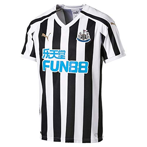 PUMA Men's Newcastle United Home Replica Jersey with Sponsor (Small) Puma White-Puma Black