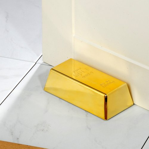 Goldbarren Türstopper aus Gold Deko Briefbeschwerer