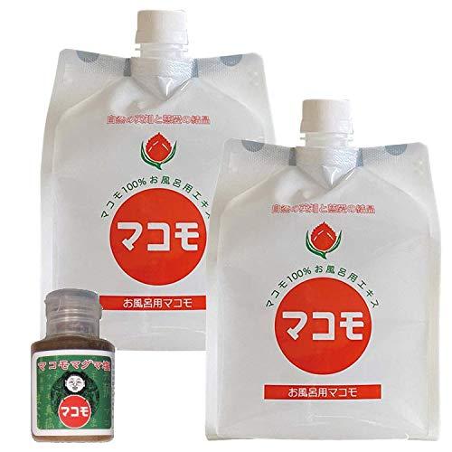 お風呂用マコモ(1000ml)×2本セット+マコモマグマ塩プレゼント付き
