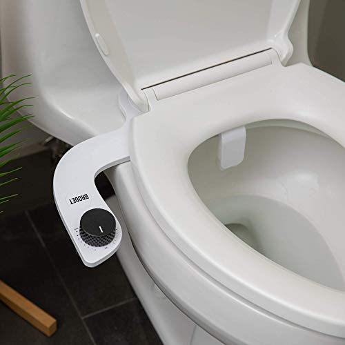 Brodet Bidet Toilet Seat Attachment - Fresh Clean Water Sprayer - Modern, Sleek Design - Self Cleaning Non-Electric Nozzle - Fits All Toilets, Easy To Install