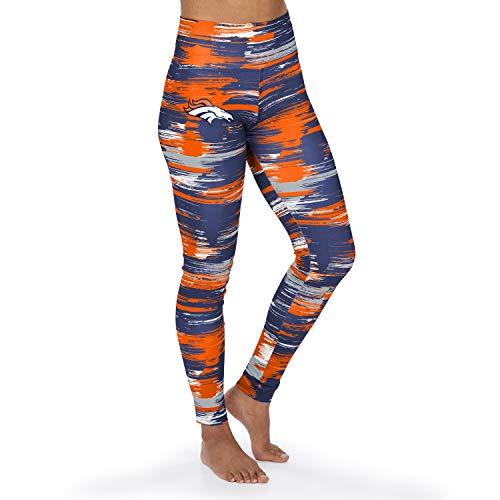 Zubaz NFL Denver Broncos Damen Paint Legging, Navy Blue/Orange, Small