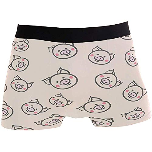 Adamitt Piggy Pig Boxershorts für Herren Unterwäsche Atmungsaktiver Stretch-Boxer